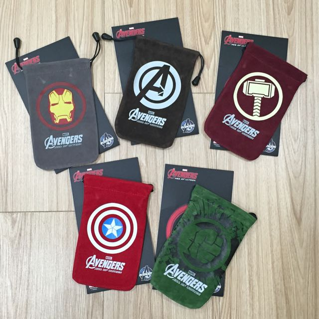 復仇者聯盟束口袋(5入1組)