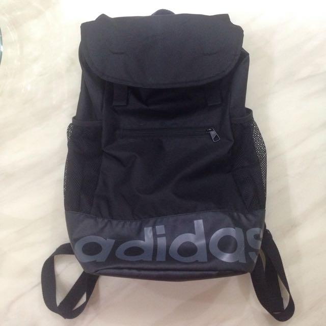 Adidas 愛迪達 後背包 黑色