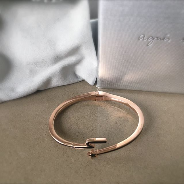 Agnes B Rose Gold Bangle