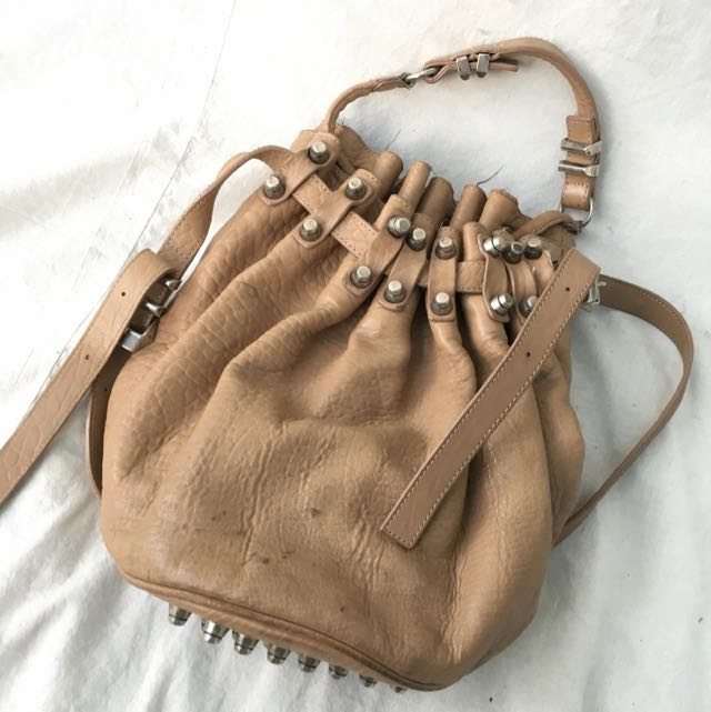 Alexander Wang Diego Bucket Bag (Beige)