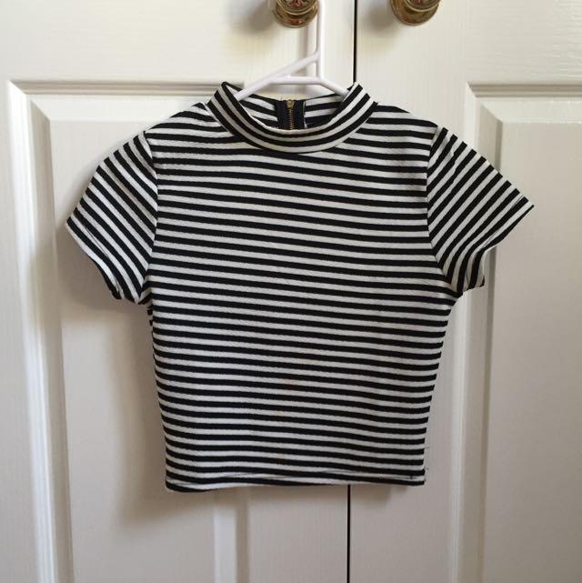 Ally Stripy Crop Top