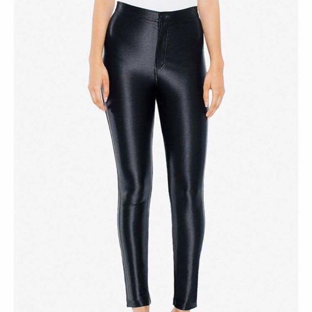American Apparel Disco Pants Black Size Small