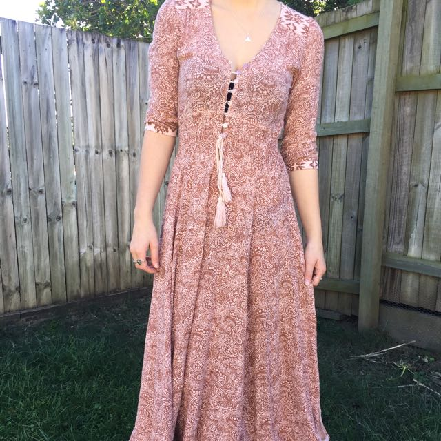 Beautiful Light Pink Maxi Dress