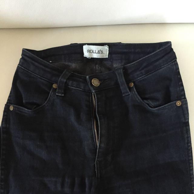 Black Rollas Jeans