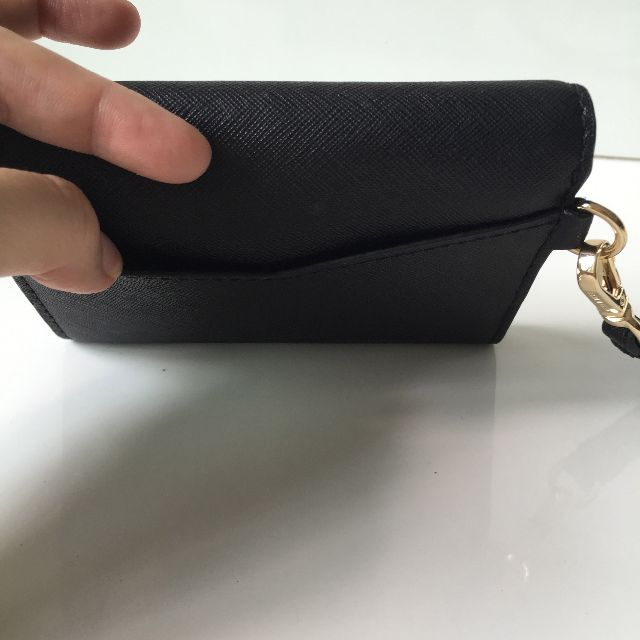 c04a04154ddf RESERVED Brand New Authentic Michael Kors Honey Medium Card Holder Wristlet  Black