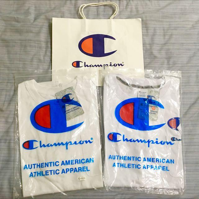 Champion 2件T袖 全新含吊牌 專屬手提袋