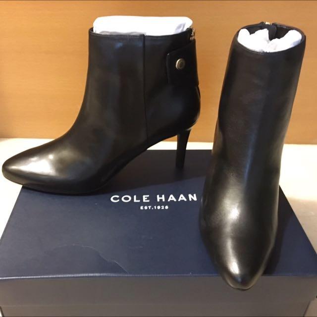 Cole Haan 黑色細跟短靴👣👣