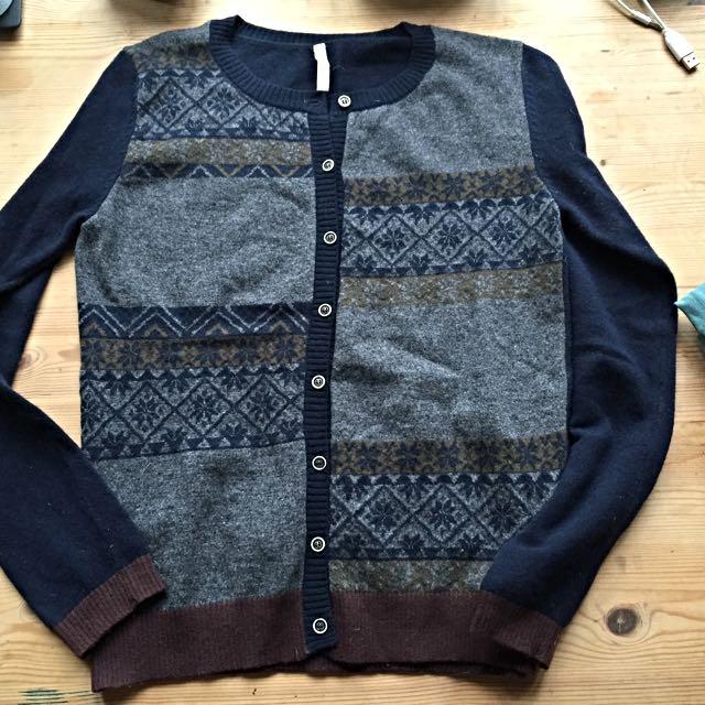 European 100% Wool Cute Cardigan