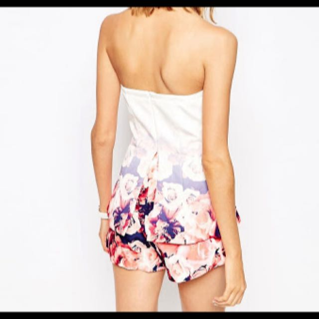 Finders Keepers Floral The Good Life Playsuit Brand New Peplum Festival Ombré