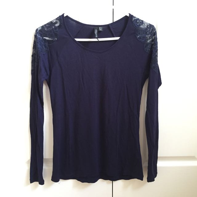 Forever New Navy Long Sleeved Top