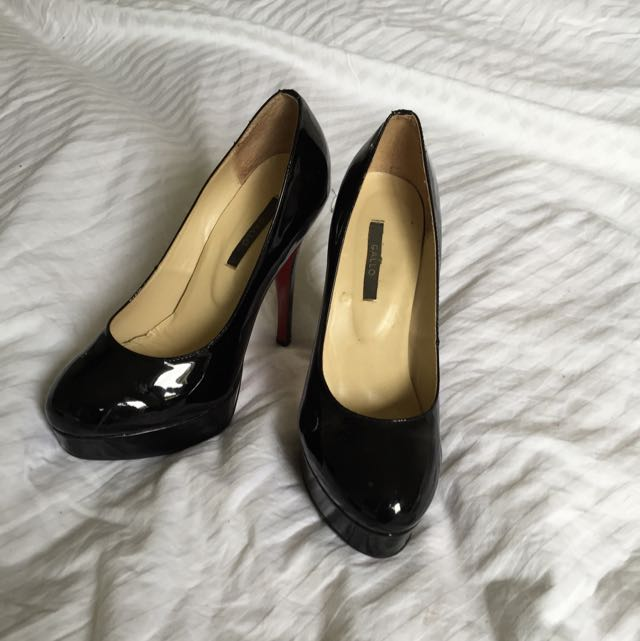 GALLO BLACK STILETTOS SIZE 40