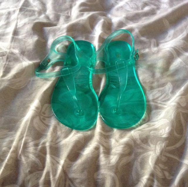 Gel Green Sandals