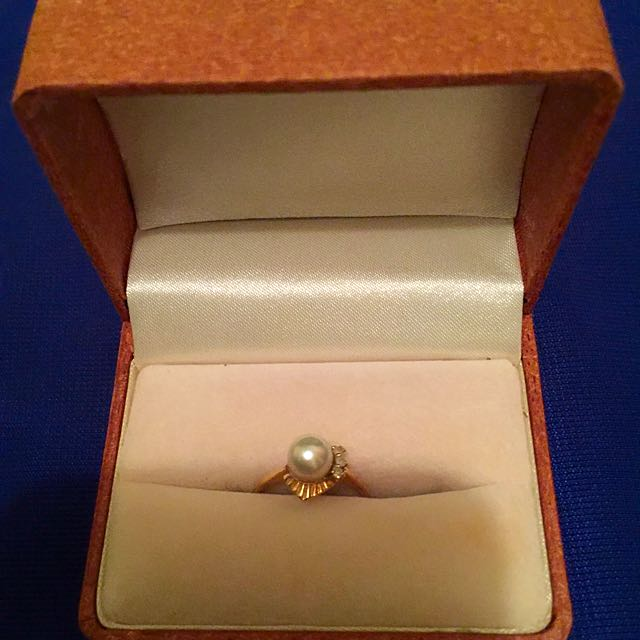 Gold Ring With Pearl 14k