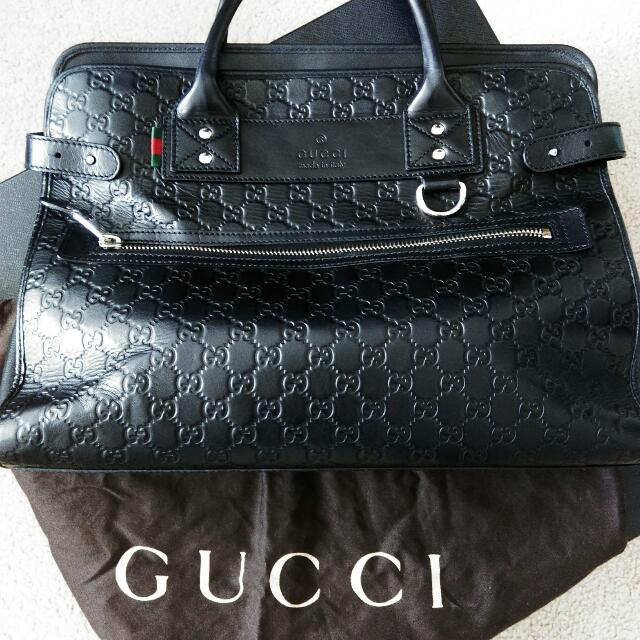 Gucci: Guccissima Leather Business Bag