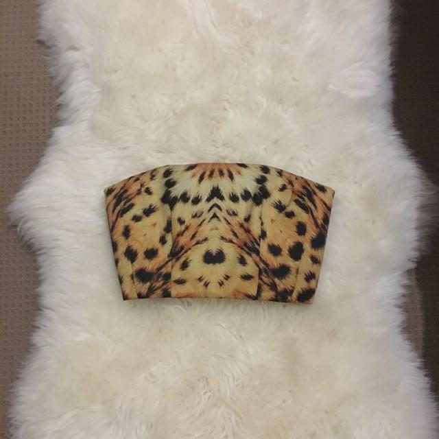 Josh Goot Silk Leopard Bustier XS RRP $495