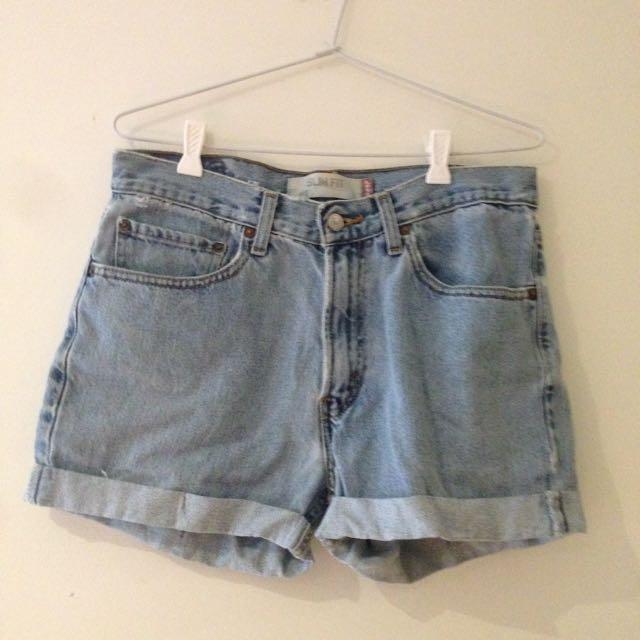 Levis High Waisted Denim Shorts