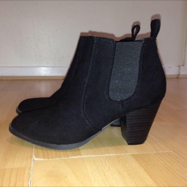 London Rebel Black Boots