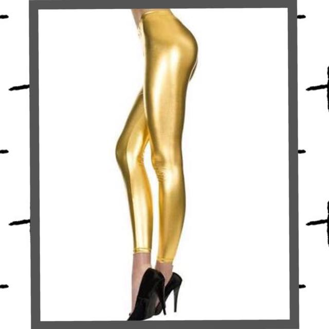 Metallic Gold Pants