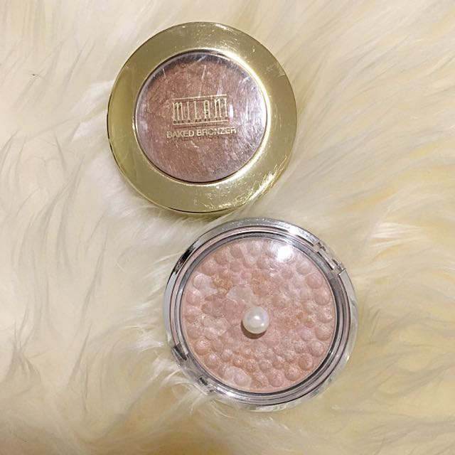 Milani Baked Bronzer And Physicians Formula Highlighter