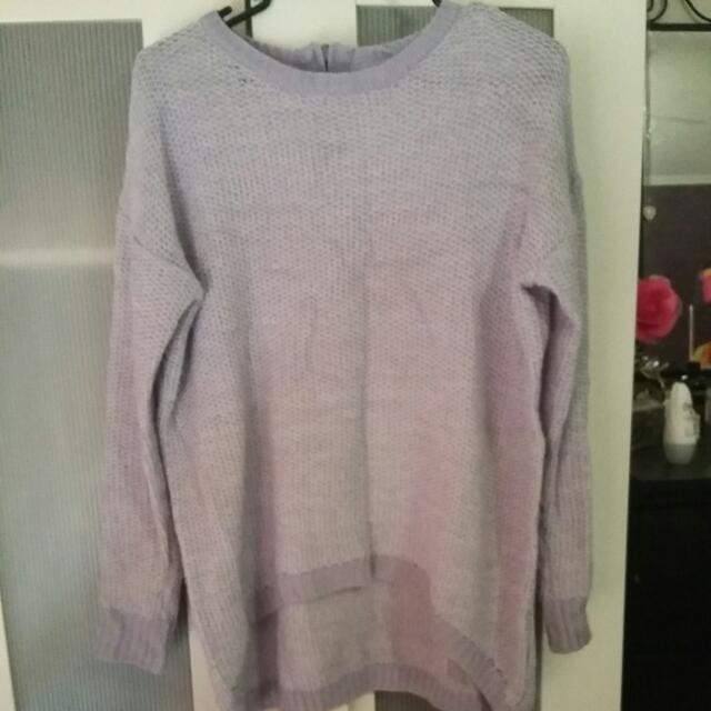 Purple Knit Jumper