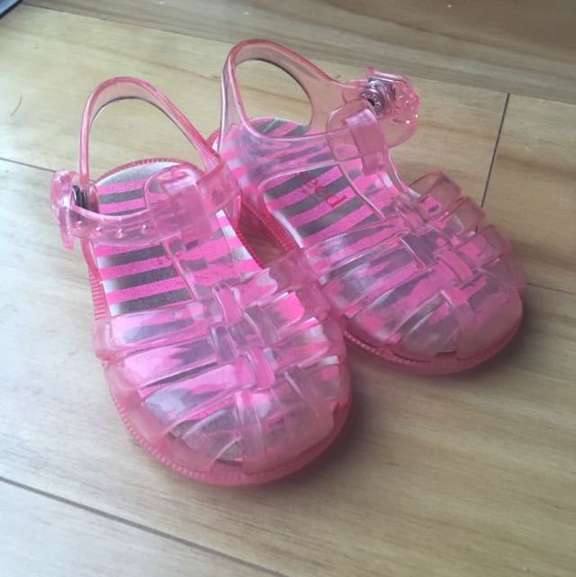 Seed Pink Jelly Sandals