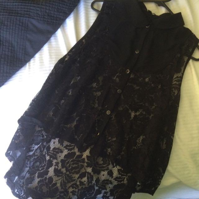 Size 12 - Black Blouse