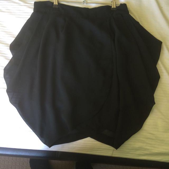 Size 12 - Black Draped Sides Skirt