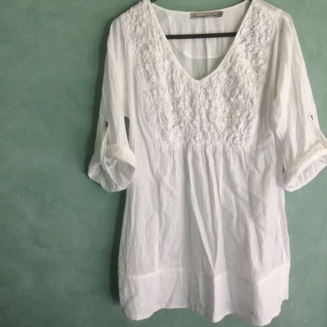 Size 8 - White Summer Coverall
