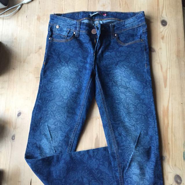 Stradivarius Print Skinny Jeans Size6