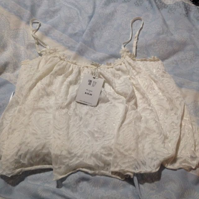 White Patterned Crop