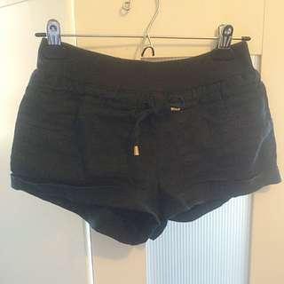 Forever21 Navy Linen Shorts