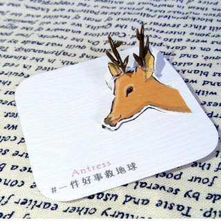 獨家設計/動物系列手作耳環---鹿角