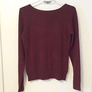 Suzy Shier Burgandy Sweater