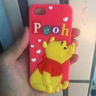 Disney 迪士尼 Winnie Pooh 維尼 矽膠造型手機殼   IPHONE 5 5S SE
