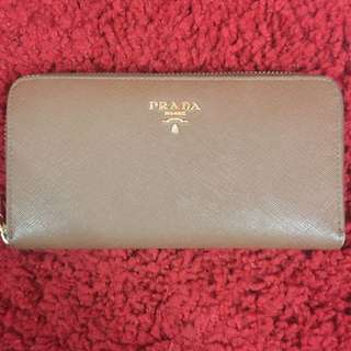 Brown Prada Wallet