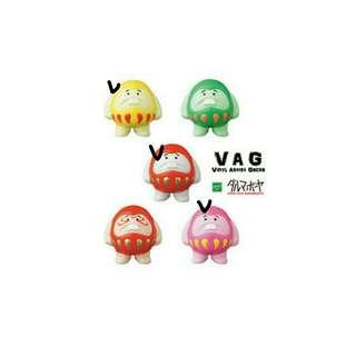 ((徵收)) VAG 達摩款 紅色,粉色,黃色