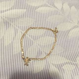 Gold Baby Bracelet With 2 Charms