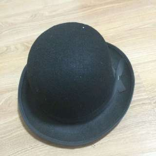 Wool Black Hat