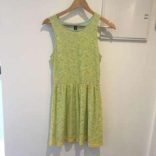 Green Blue Layered Dress