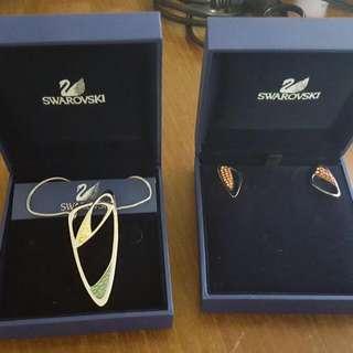 Swarovski Earrings And Pendent Set