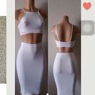 Calvin Klein Reworked Body con Skirt
