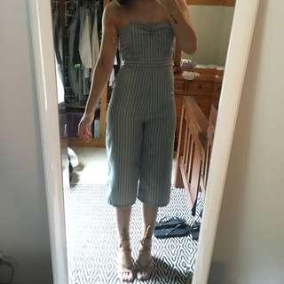 Pin Stripe Jumpsuit