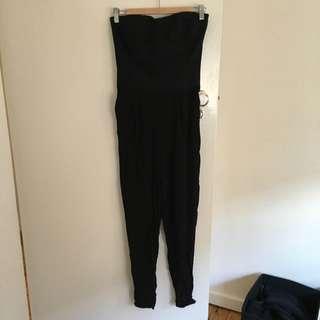 Black Bardot Jumpsuit Size 8