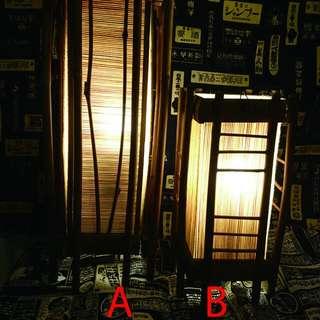 日式竹風 檯燈 手工製造 A B款