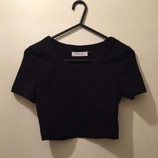 Black Crop Top Size 6