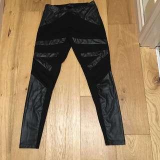 Leggings With Black Detailing
