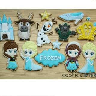 Cookids手作烘焙-冰雪奇緣糖霜餅乾