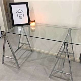 Freedom Furniture Trestle Desk - Industrial Glam!