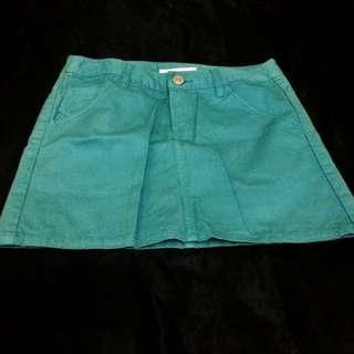 Rok Mini Jeans Warna Tosca