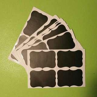 🚚 Fancy Blackboard Label Sticker《5cm By 3.5cm Each》